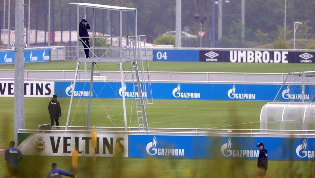 Gli allenamenti dello Schalke. Epa